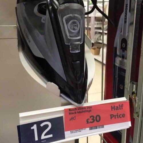 Bosch tda3020gb iron £30 @ sainsburys