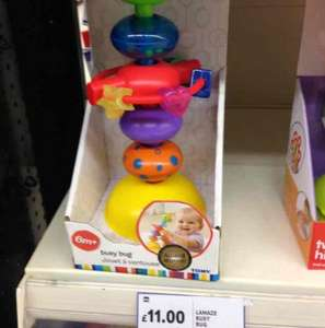 Lamaze busy bug £11 on the shelf  but scanning at £2.75  instore at Tesco