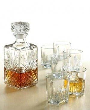 Bormioli Rocco Selecta Glass Decanter - 1000ml (35oz) & Set of 6 280ml (10oz) Glasses - £8.89 Delivered @Amazon