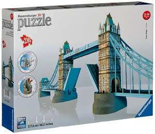 Ravensburger London Tower Bridge Building 3d Puzzle 117 cm / 46 inches long (216 Pieces) £12 Prime / £16.75 Non Prime @ Amazon