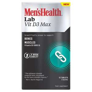 Men's Health Lab Vitamin D3 Max £1.25 @ Asda