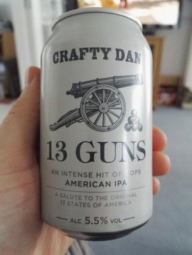 13 Guns American IPA - 4 pack, £3 Tesco in store