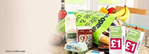 co-op savings stamps, buy £2 get £1 free instore