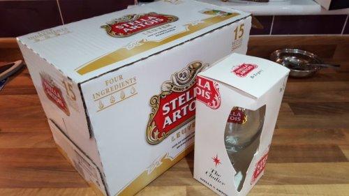Tesco Stella Artois free glass offer £8 @ Tesco