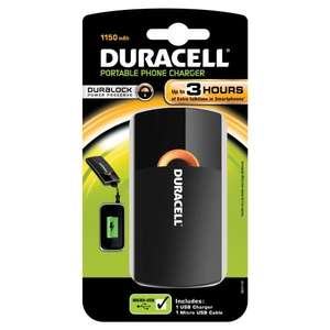 Duracell 3 Hours USB Portable Charger £3.00 @ B&Q online and instore Free C&C