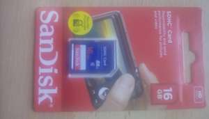 Tesco - Sandisk 16gb SD Card Reduced to £3.00 from £6.00 online & instore