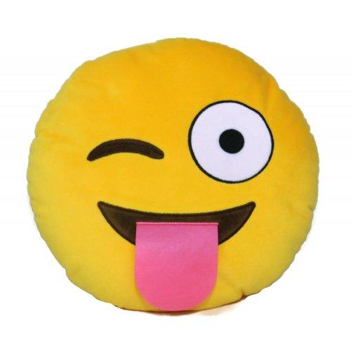 Emoji Cushions [Wink, wink/Cringey face] £2.99 @ Home Bargains