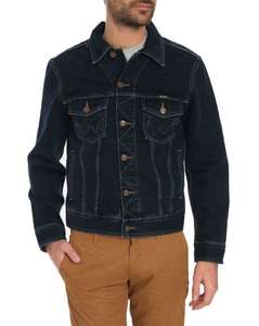 WRANGLER Men's Denim Black,Blue Jacket £34.06 delivered @ Amazon