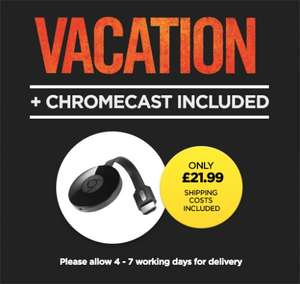 Google Chromecast 2 & Vacation - £21.99 - Wuaki