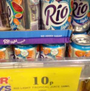 Rio tropical juice drink 330m cans 10p @ home bargains