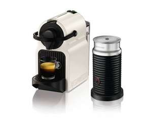 Nespresso Inissia Coffee Machine with Aeroccino by Krups Blue £83.99 delivered @ Amazon