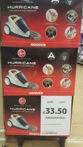 hoover hurricane bagless vacuum £33.50 instore at Tesco