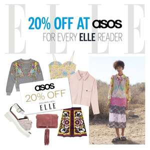 20% off ASOS card when you buy ELLE UK Magazine £4.10