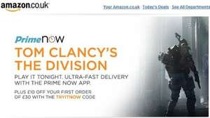 Tom Clancy's - The Division PS4/Xbox One £42 (£32 using discount code through AMAZON PRIME NOW)