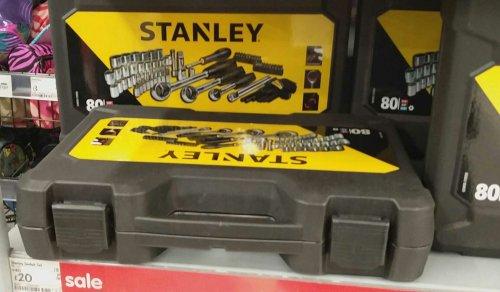 Stanley 80pcs socket set £20 @ ASDA