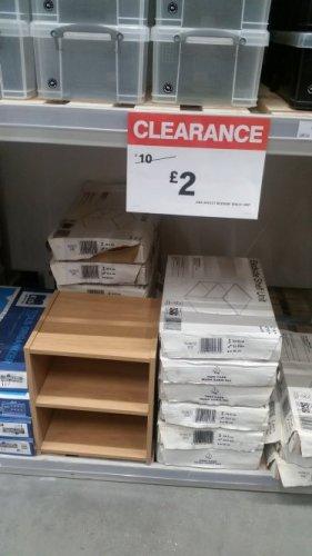 B & Q Oak effect bed side shelf unit £2 instore