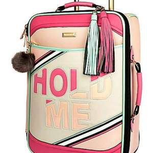 Light pink slogan suitcase sale - £35 @ River Island