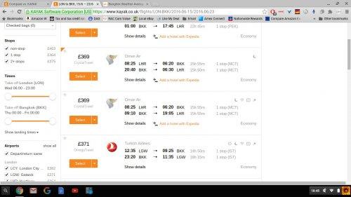 Cheap Bangkok £369 Return June - London to Thailand @ Kayak