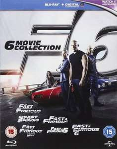 Fast and Furious 6 Movie Collection £15.80 prime / £17.79 non prime @ Amazon