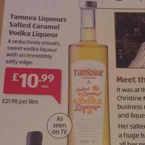 Aldi salted caramel vodka liqueur £10.99