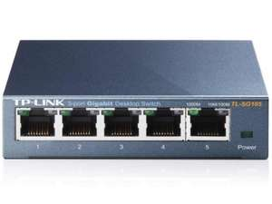 Steel TP-LINK 5 Port Gigabit Ethernet switch £12.99 with Amazon Prime. (£16.98 non prime)