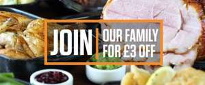 Free £3 Voucher For Signing Up To Newsletter @ Crown Carveries