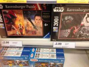 £2 Ravensburger 100pc / 200pc Star Wars puzzle. Instore at Tesco.