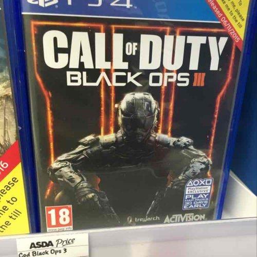 Call of Duty Black Ops 3 PS4 £30 @ Asda