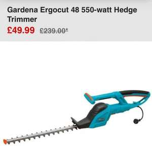 Gardena Ergocut 48 550-watt Hedge Trimmer  from bargain crazy £43.94