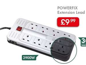 POWERFIX Extension Lead with 3yr warranty £9.99 @ Lidl