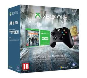 Xbox One Wireless Entertainment Pack - The Division, Wireless Controller & 3 Months Gold Membership  - £72.27 delivered from Gamestop