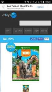 zoo Tycoon Xbox one digital download £7.99 @ CDKeys