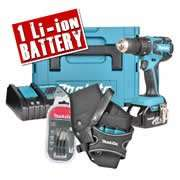 Makita DHP459-KIT Makita 18v Li-ion Brushless Hammer Drill Driver Kit - £119.99 - ITS