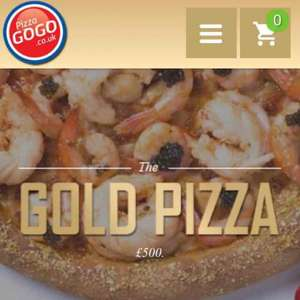Having a takeaway tonight, why not get the Gold Pizza from Pizza GoGo - A great deal at only £500.