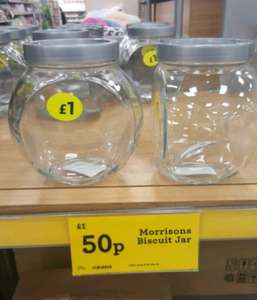 glass jars 50p @ Morrisons