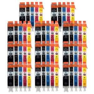 55 Compatible Ink Cartridges CLI550/551/PGI550 For Canon Pixma 	 £21.82 @ eBay sold by unink-uk