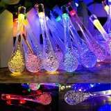 Goodia multi color 4.8M 20 LED Icicle Lights Solar Powered Raindrop Garden String Fairy Lights/ LED Waterproof Decorative Lights £8.99 (PRIME) £12.98 (Non Prime)