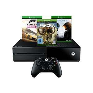 Xbox One 500GB + Forza Horizon 2 + Far Cry Primal- Special Edition + Halo 5: Guardians £266.45 delivered from Amazon.de