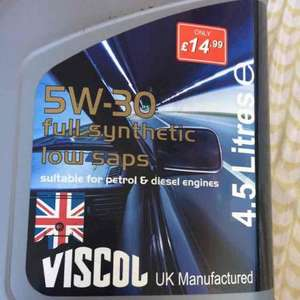 Engine Oil 5W30 Fully Synthetic £14.99 @ Poundstretcher