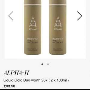 ALPHA H LIQUID GOLD 100ml BOGOF £33.50 RRP £67 @ Cult Beauty LINK BELOW