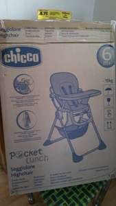 Chicco high chair 6 months + £8.75 @  Tesco extra Telford