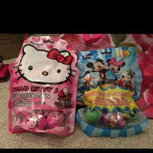 10 plastic eggs with candy and stickers inside hello kitty or Disney great for Easter egg hunt 79p @ Home Bargains
