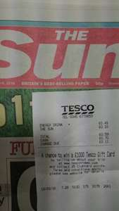 The Sun scanning @ 10p Tesco Metro Monument, could be national