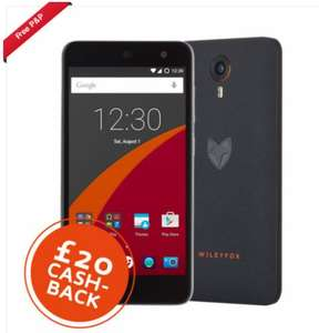 Wileyfox Swift 4G LTE, £20 cashback, £114.99 (excluding Cashback) @ foniacs_uk on Ebay