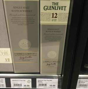 Glenlivet 12yo 35cl only £10 at Booths. grab it while you can...