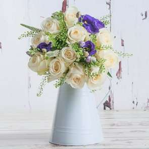 Blueberry Pancakes Bouquet - Roses, Eustoma & Veronica (Was £34.99) Now £14.99 Delivered @ Blossoming Gifts (see more 1st comment)