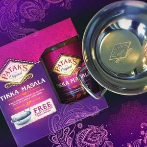 "Patak's Tikka Masala with free 6"" Curry Serving Dish (stainless steel) £1.78 in selected Asda stores"