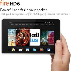 "Fire HD 6, 6"" HD Display, Wi-Fi, 16 GB (White) - Includes Special Offers, Deal of the day, (RRP: £99.99), £69.99 & FREE Delivery in the UK, at Amazon"