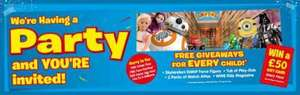 Party at Smyths - Free goody bag, easter egg, candy floss and face painting! + Win £50 GC every hour (26th March)