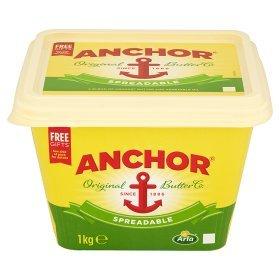 anchor butter 1kg only £4.00 @ Asda